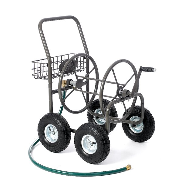 Residential 4 Wheel Steel Hose Reel Cart by Liberty Garden