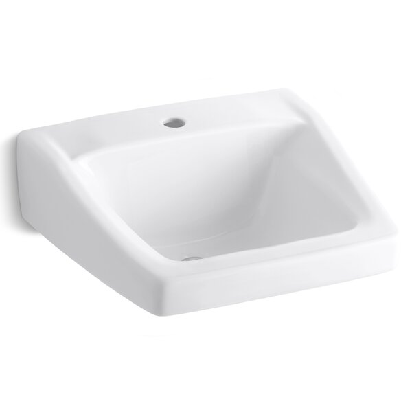 Chesapeake Ceramic 20 Wall Mount Bathroom Sink with Overflow by Kohler