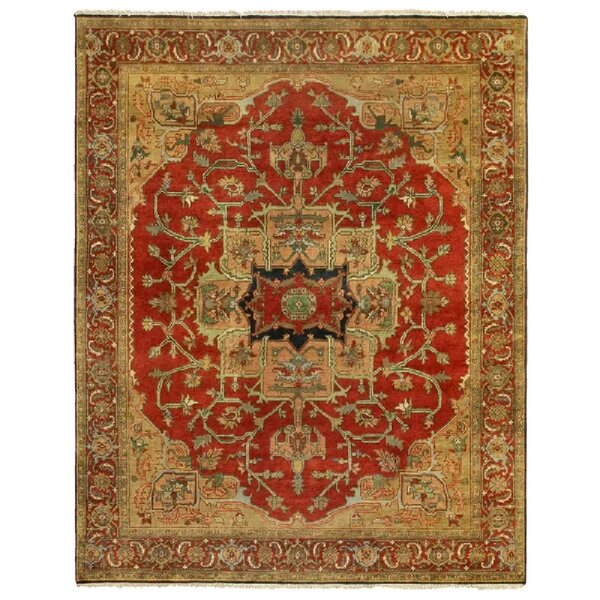 Serapi Oriental Hand-Knotted Wool Red/Brown Area Rug
