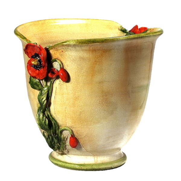 Fiore Poppy Ceramic Pot Planter by Intrada Italy