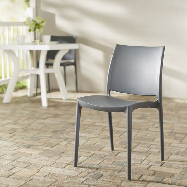 Goguen Stacking Patio Dining Chair (Set of 2) by Ebern Designs