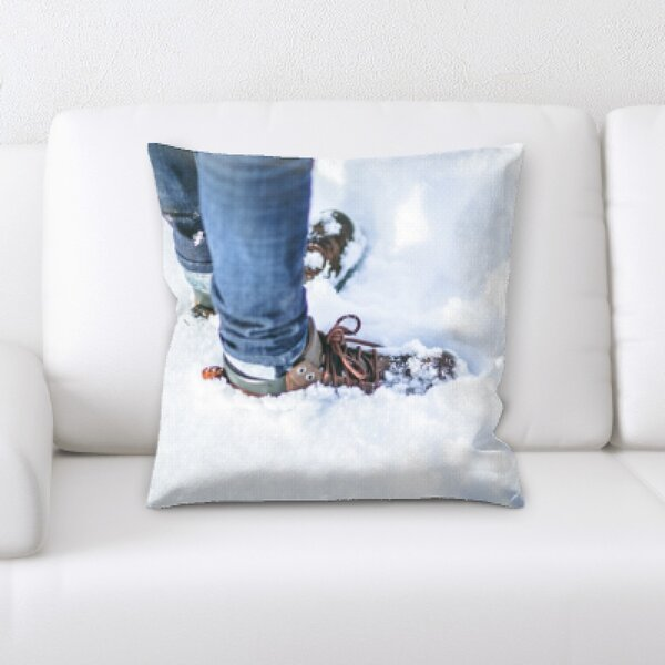 Winter Feeling (225) Throw Pillow by Rug Tycoon