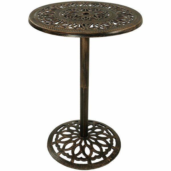 Nyla Round Bar Table by Fleur De Lis Living