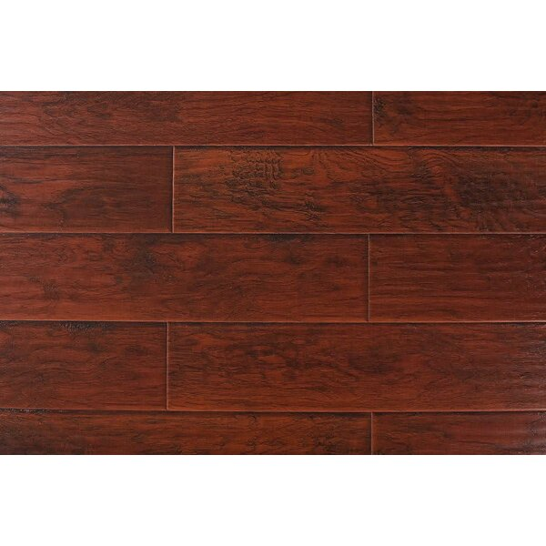 Kolten 7 x 48 x 12mm Hickory Laminate Flooring in Nirwana Red by Serradon