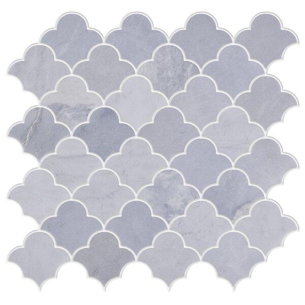 Whiteheaven 2 x 2 Marble Mosaic Tile in White by Byzantin Mosaic