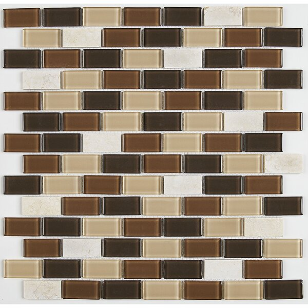 Gibson 12 x 13 Mixed Material Mosaic Tile in Desert Dune by Itona Tile