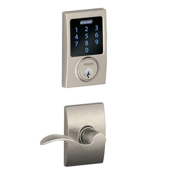 Connect Touchscreen Deadbolt and Accent Lever with Century Trim by Schlage