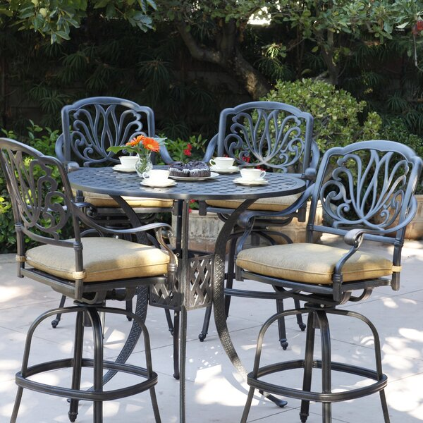 Lebanon 5 Piece Bar Height Dining Set with Cushion