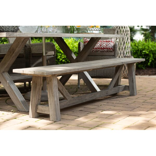 Alvah Wooden Picnic Bench by Rosecliff Heights