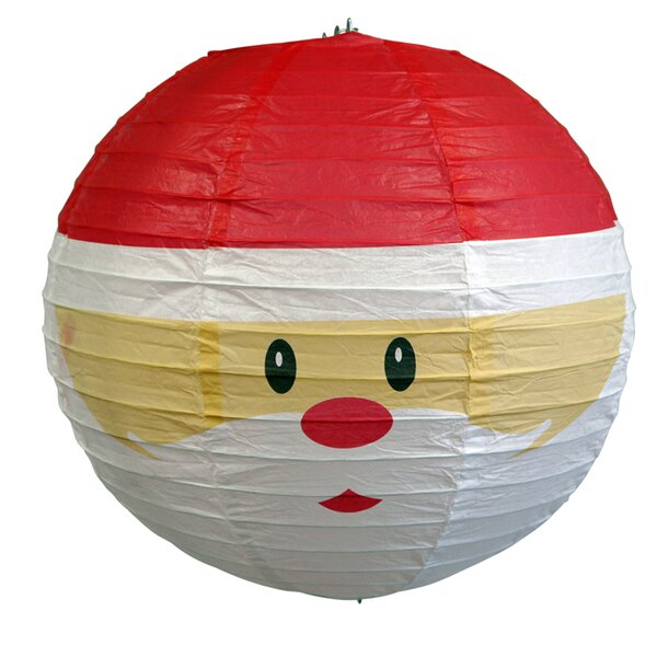 Santa Claus Christmas Holiday Paper Lantern by The Paper Lantern Store