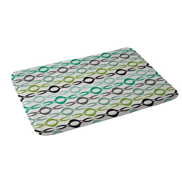 Karen Harris Coming Undone in Succulent Light Memory Foam Bath Rug by East Urban Home