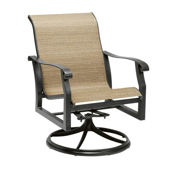 Cortland Swivel Patio Dining Chair by Woodard