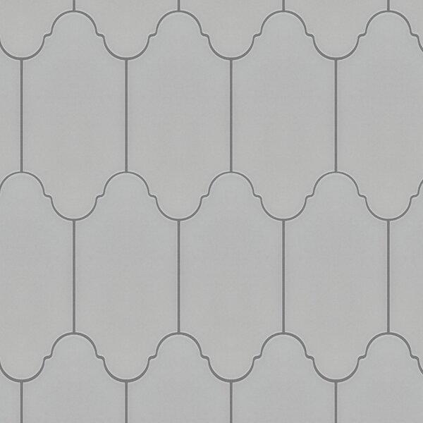 Abrique Provenzal 6.38 x 12.88 Porcelain Field Tile in Basic Silver by EliteTile