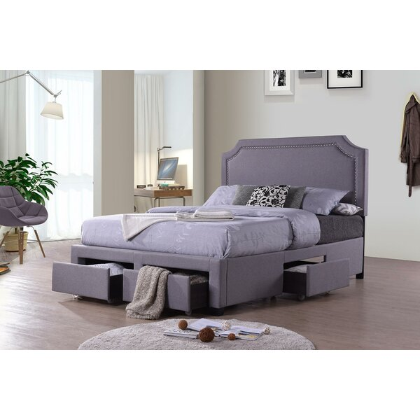 Haleemah King Upholstered Storage Standard Bed by Latitude Run
