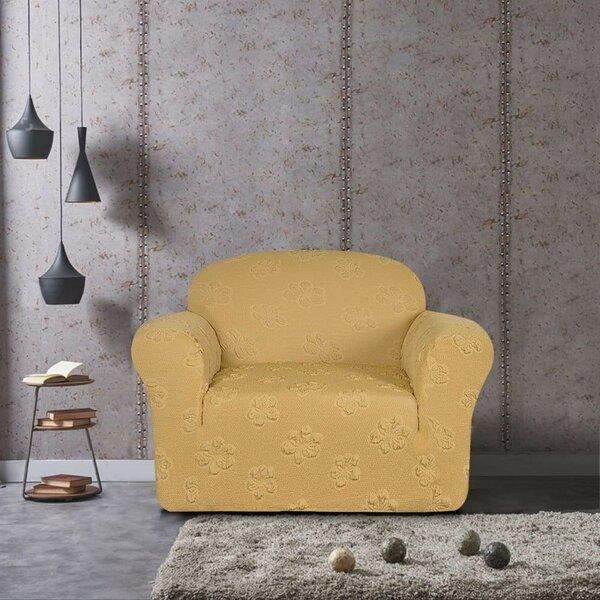 Flower Jacquard Armchair Slipcover by Winston Porter