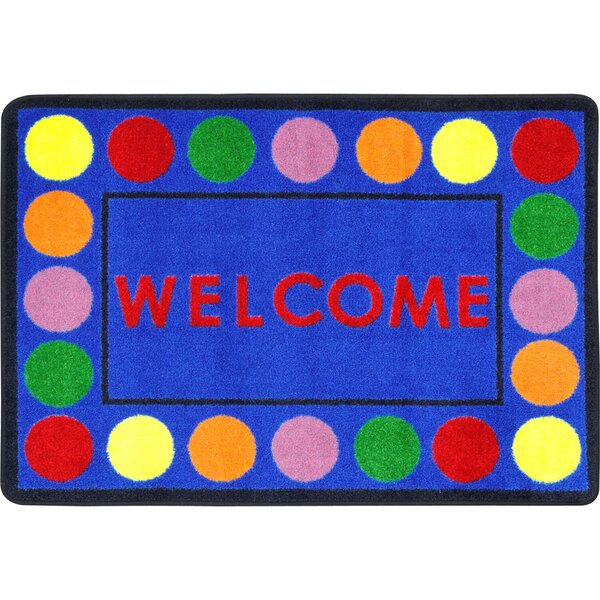 Lots of Dots Blue Area Rug by Joy Carpets