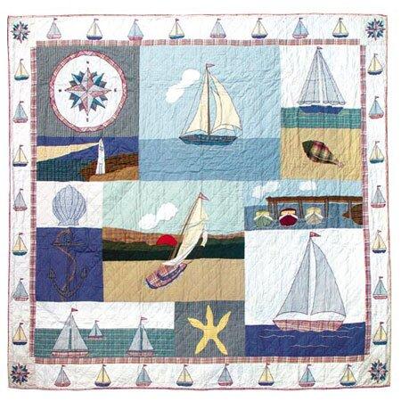 Nautical Single Reversible Quilt