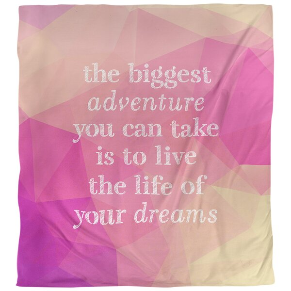 Quotes Faux Gemstone the Biggest Adventure Single Reversible Duvet Cover