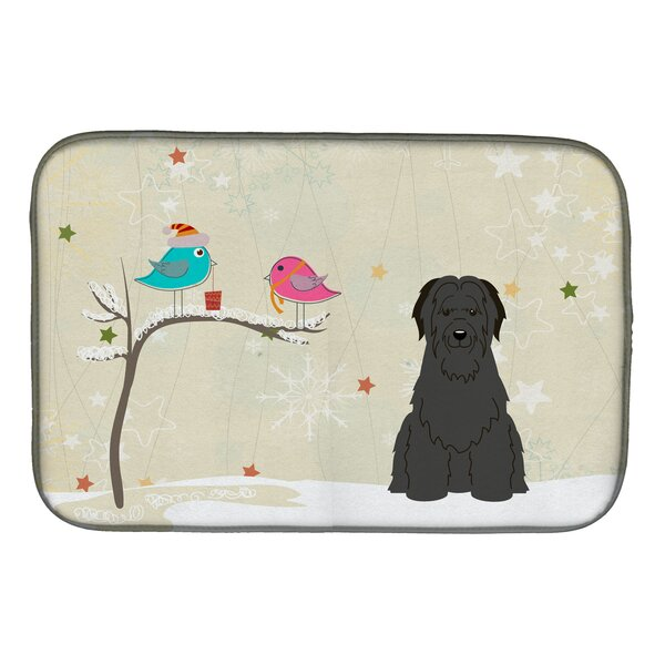 Christmas Presents Between Friends Briard Dish Drying Mat by Caroline's Treasures