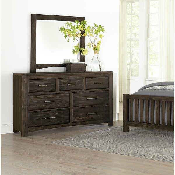 Hernandez 7 Drawer Dresser with Mirror by Alcott Hill
