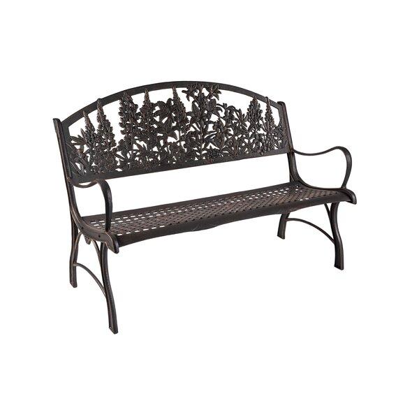 Coker Wildflower Cast Iron Park Bench by Rosalind Wheeler