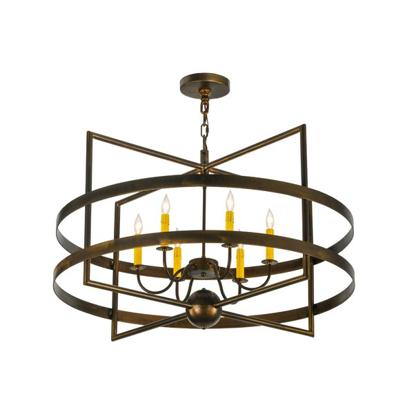 Wolken 6 - Light Candle Style Geometric Chandelier By 17 Stories