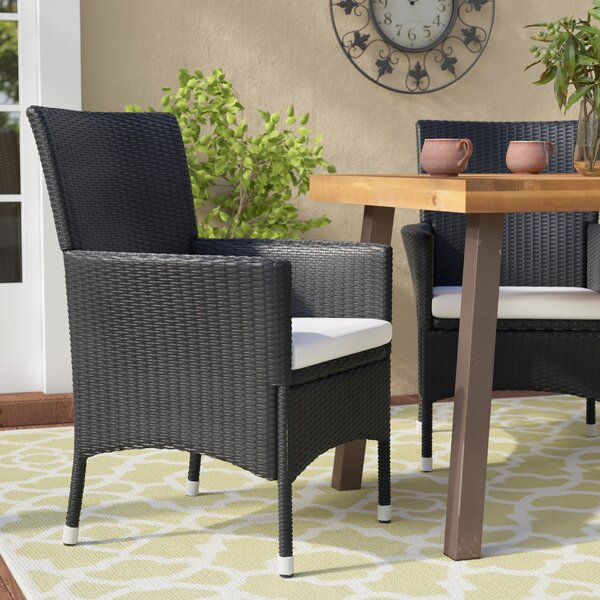 Bargain Fielding Patio Dining Chair With Cushion (Set Of 2) By Alcott Hill Purchase