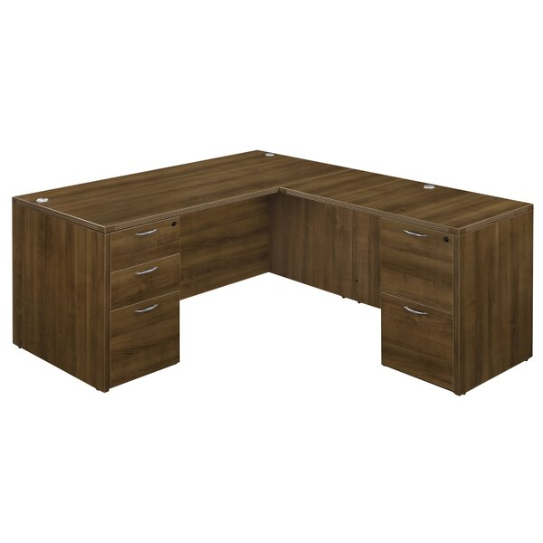 Fairplex 5 Drawers L-Shape Executive Desk by Flexsteel Contract