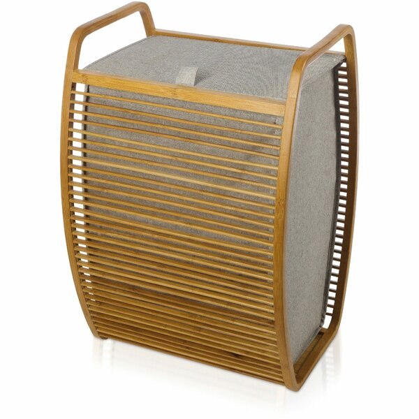 Bamboo Laundry Hamper with Carry Handles and Lid by Union Rustic