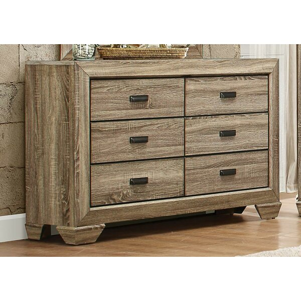 Hucksley Wooden 6 Drawer Double Dresser by Gracie Oaks