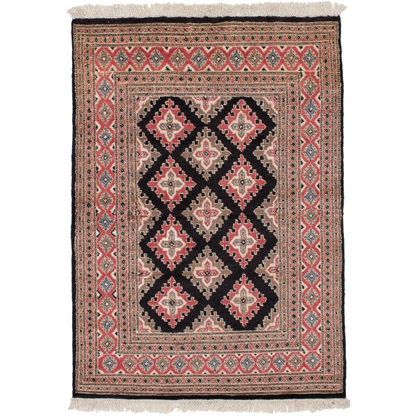 One-of-a-Kind Do Hand Knotted Wool Dark Copper/Tan Area Rug by Isabelline