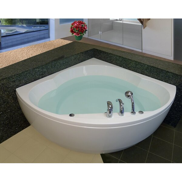 Cleopatra Corner 61 x 61 Soaking Bathtub by Aquatica