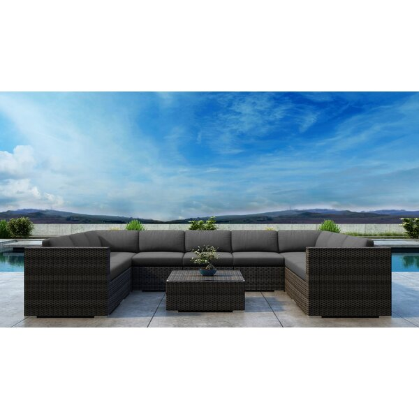 Gilleland 10 Piece Set Sectional Seating Group with Sunbrella Cushion by Orren Ellis