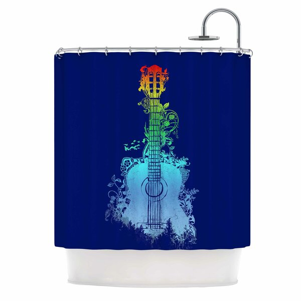 Nature Tune by Frederic Levy-Hadida Music Shower Curtain by East Urban Home