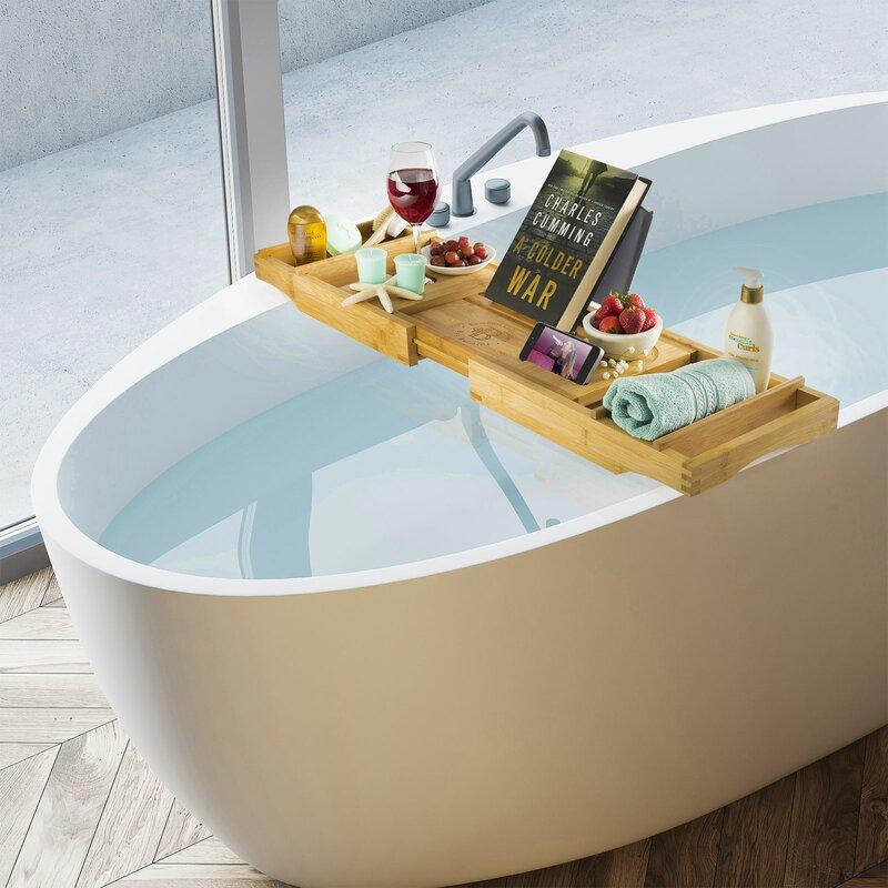 Belmint Bambusi Bamboo Bathtub Caddy | Wayfair