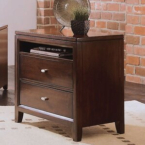 Woodlynne 2 Drawer Nightstand by Red Barrel Studio