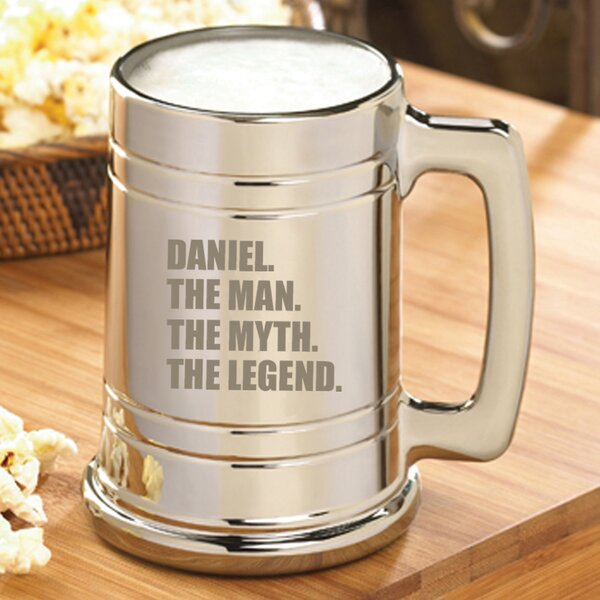 The Man/The Myth/The Legend 16 Oz. Beer Mug by JDS Personalized Gifts