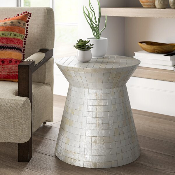 Courtnay Drum End Table By Mistana