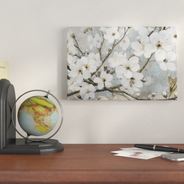 Cherry Blossoms I Painting Print on Wrapped Canvas by Alcott Hill