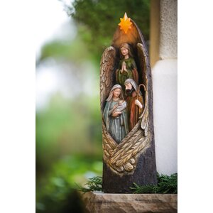 Protective Wings Nativity Statue