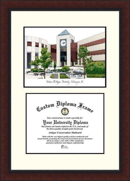 NCAA Western Michigan University Legacy Scholar Diploma Picture Frame by Campus Images