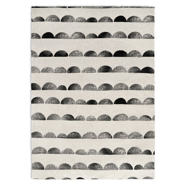 Allwood Black/Ivory Area Rug by Harriet Bee