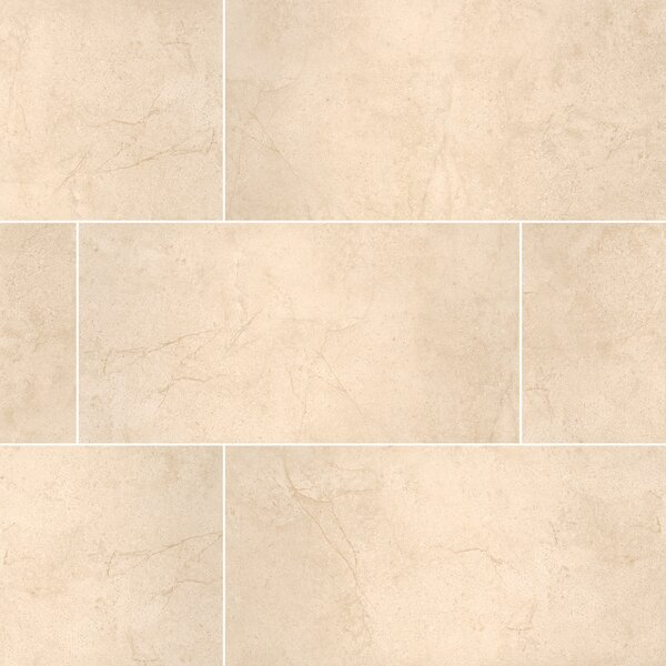 Aria 12 x 24 Porcelain Field Tile in Beige by MSI