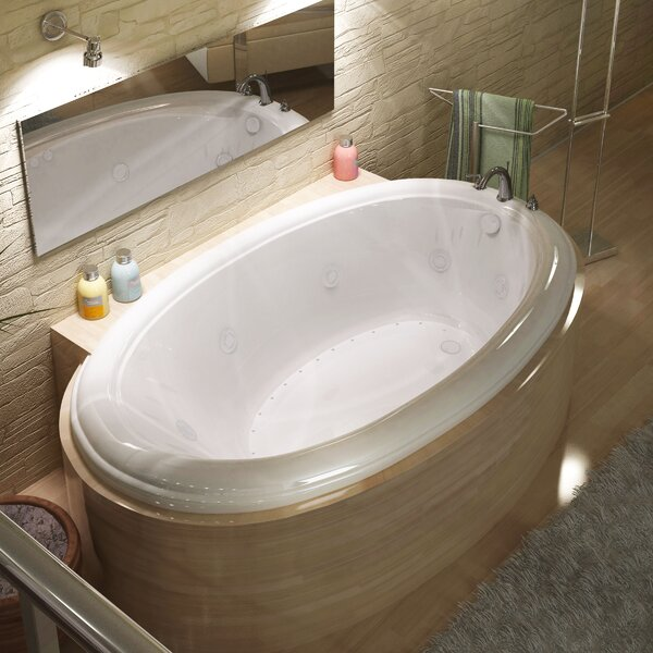 Martinique Dream Suite 70 x 42 Oval Air & Whirlpool Jetted Bathtub by Spa Escapes