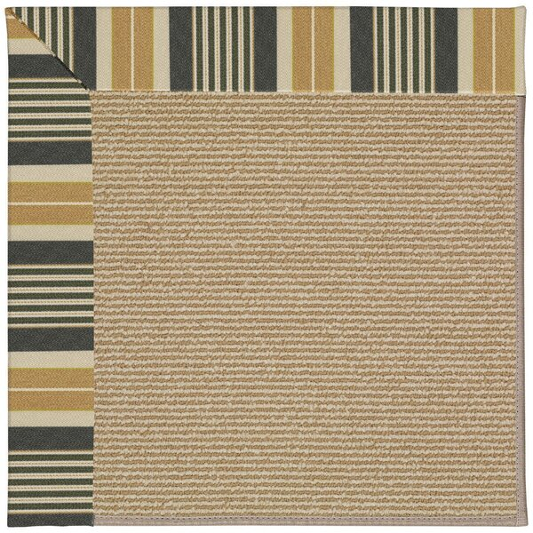 Lisle Black Indoor/Outdoor Area Rug by Longshore Tides