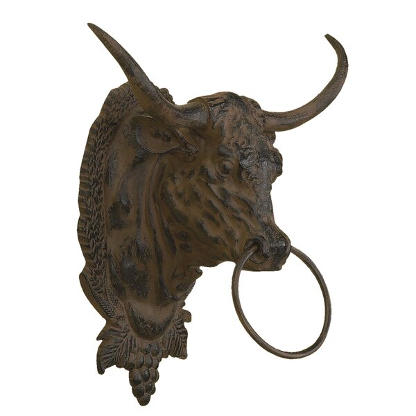 Steer with Iron Ring Wall Décor by Expo Decor LLC