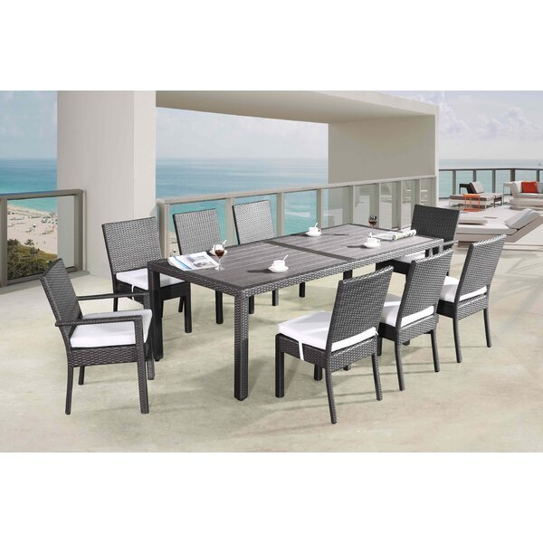 Cahill 9 Piece Dining Set With Cushions by Orren Ellis