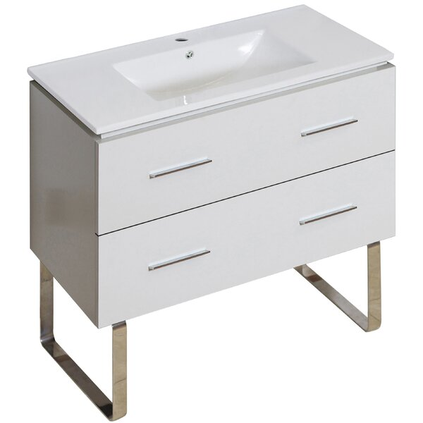 Kyra 36 Rectangle Single Bathroom Vanity by Orren Ellis
