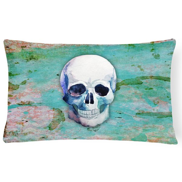Skull Lumbar Pillow by East Urban Home