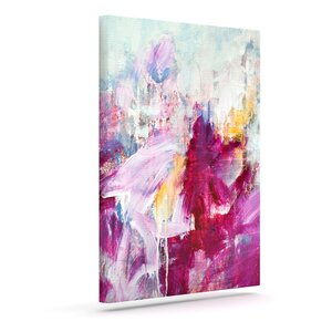'Magenta' by Iris Lehnhardt Painting Print on Wrapped Canvas by KESS InHouse